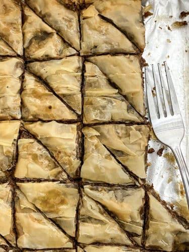 Chocolate Baklava by Anna Milligan
