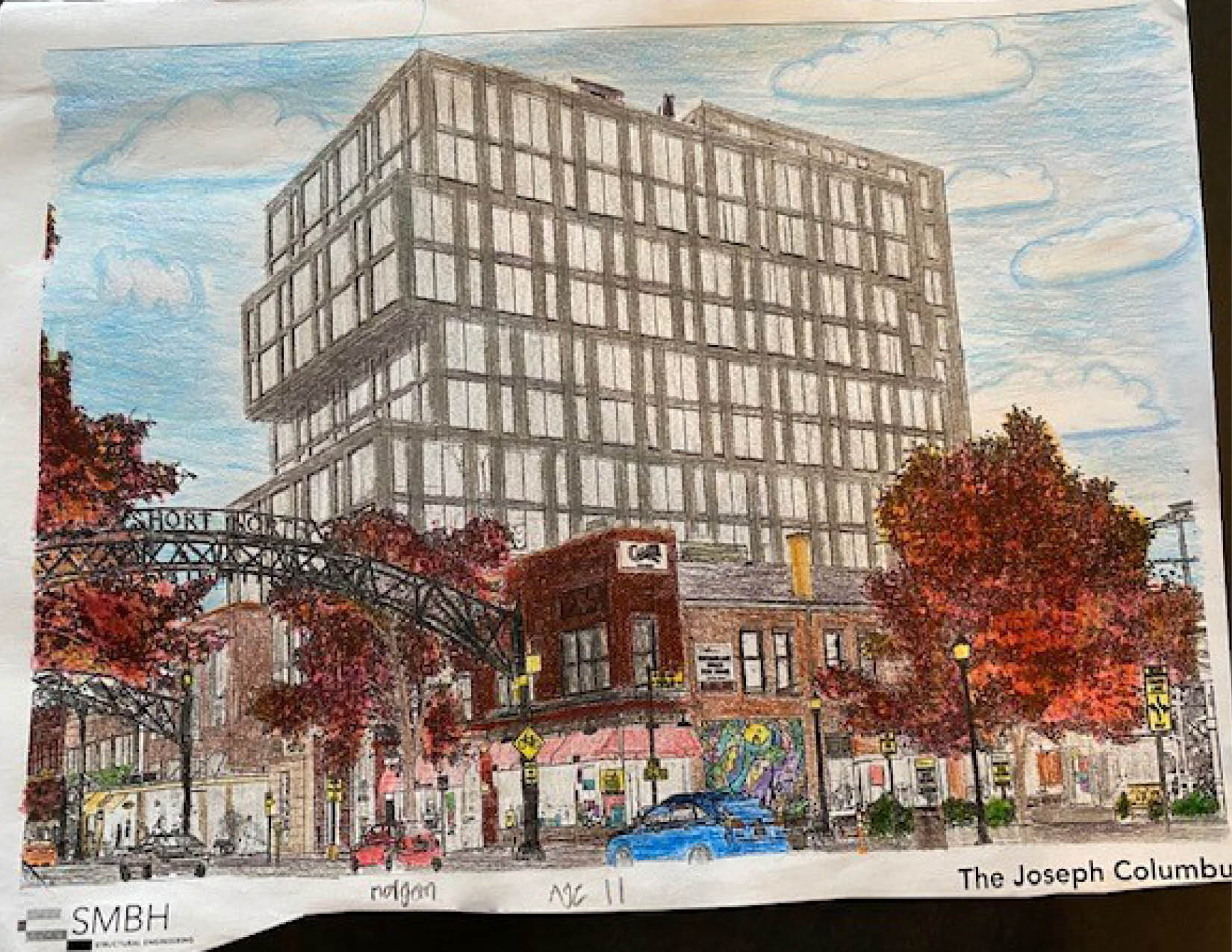 Colored page of The Joseph Hotel in Columbus, Ohio. Done by Morgan (11-15 Winner)