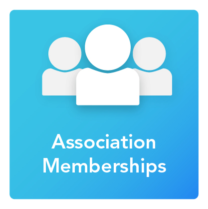 Association Memberships: An icon of three people