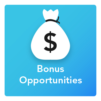 Bonus Opportunities: An icon of a bag of money