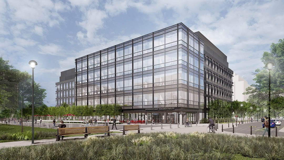 A digital rendering of the new OSU Interdisciplinary Research Facility